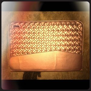 Accessories - Glimmering, Shiny Pink Rose Gold Laptop Bag/Clutch